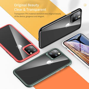 Image 5 - ROCK For 2019 iphone 11 iphone 11 pro max case Crystal Clear Phone protection soft + hard hybrid case for iphone 11 pro cover