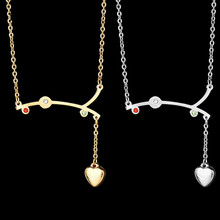 Eleple Titanium Steel Lady Twig Colour Zircon Inlaid Love Necklaces Winter Sweater Clavicle Chain Fashion Creative Jewelry S-N12