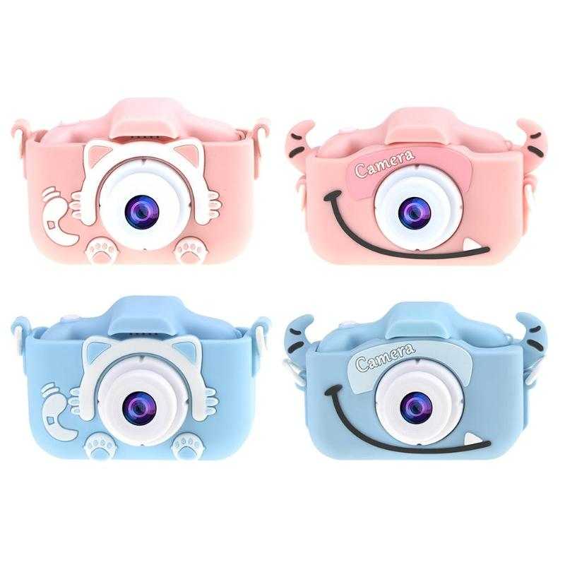 Kinder Kinder Kamera 32G Nette Spielzeug Katze Mini Digital Kamera IPS Bildschirm Bildung Spielzeug Für Kinder Kamera für Kinder geburtstag Geschenk