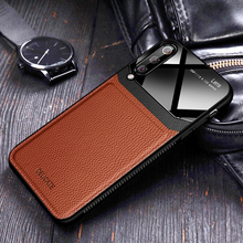 luxury leather Mirror case honor 10 lite 9 light 8x 9x 10i 20i camera lens shock