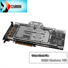 цены Barrow gpu block for AMD Radeon VII, GPU water-cooled heatsink for AMD Radeon VII card, 5v 3-pin optical connector BS-AMRVII-PA