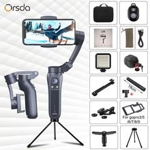 Orsda 3 Axis Handheld Gimbal Stabilizer with Bluetooth Remote Support Universal Adjustable direction phone Stabilizer Vlog live