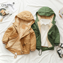 Boys Blue winter coats & Jacket kids Zipper jackets Boys thick Winter jacket high quality Boy Winter Coat kids clothes