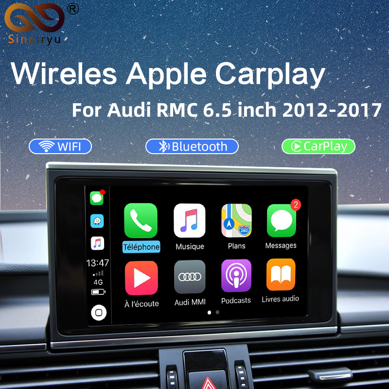 Sinairyu Wireless CarPlay Interface Box For AUDI A6/A7/S6 Original Screen Upgrade MMI system Support Mirror-link Android Auto image