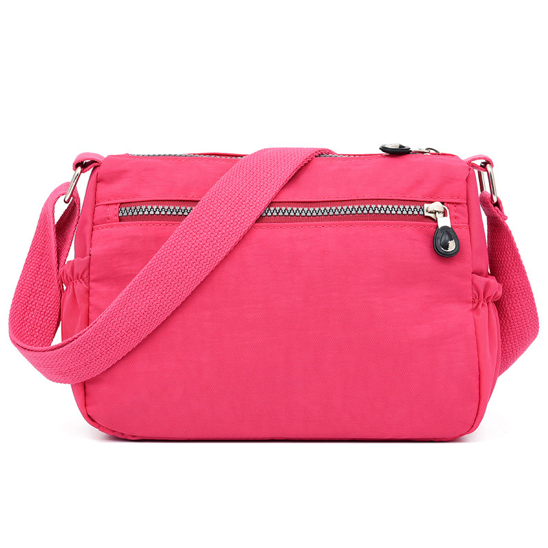 Nylon Light Portable Mommy Shoulder Bag Amy Fashion Pink Flowers About 1217