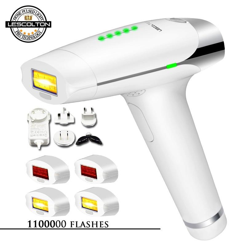 Original lescolton 1000000 vezes 4in1 depilador a laser ipl depilador depilação lcd máquina laser permanente biquíni