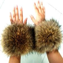 2016 Fox Raccoon Fur Fashion Fur Wool Cuffs Cuff Wrist Decorative Hair Cap Strip Cuffs