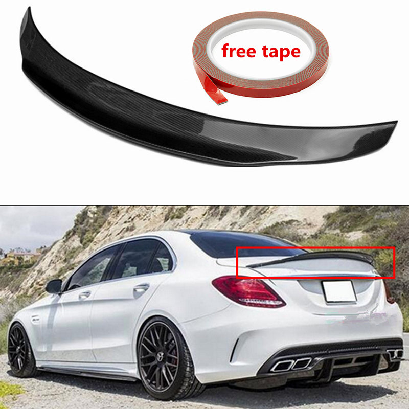 PS STYLE Real Carbon Fiber Performance trunk Highkick Trunk <font><b>Spoiler</b></font> Wing for <font><b>Mercedes</b></font> for Benz <font><b>W205</b></font> C63 for AMG PSM 2015-2017 image