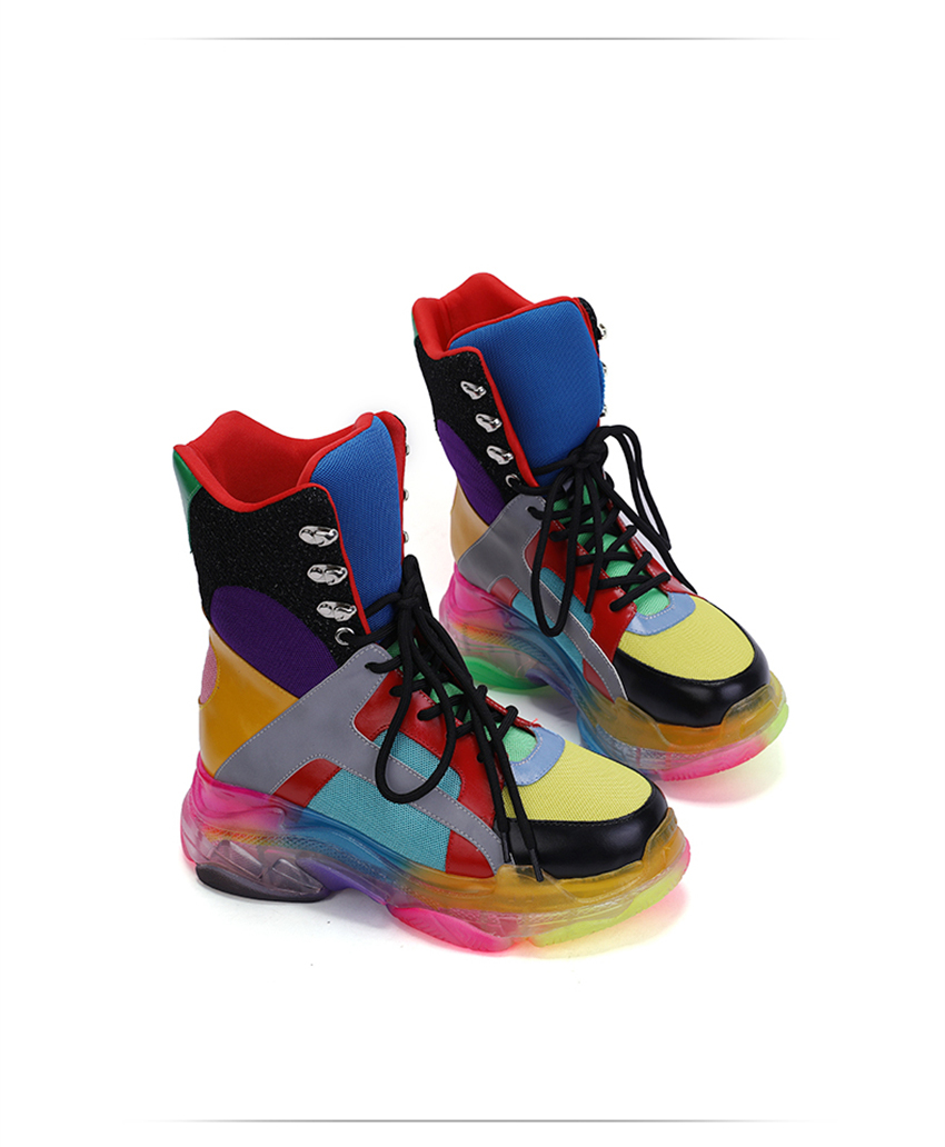 Colorful High Top Sneakers 5
