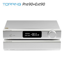 TOPPING Pre90 Preamplifier & Ext90 Input Extender Hi-Res Audio Ultra-High NFCA Modules AMP RCA/XLR Output Combination