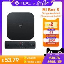 Original Global Xiaomi Mi TV Box S 4K HDR Android TV 8.1 Ultra HD 2G 8G WIFI google Cast NetflixชุดTop Mi Box 4 Media Player