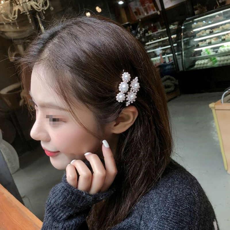 New Full ngọc trai Kẹp Tóc cho Nữ Thời Trang Ngọt Hàn Quốc Phong Cách Tóc Chân Nữ Bé Gái Hoa Thủ Công Phụ Kiện Tóc 4JWD59