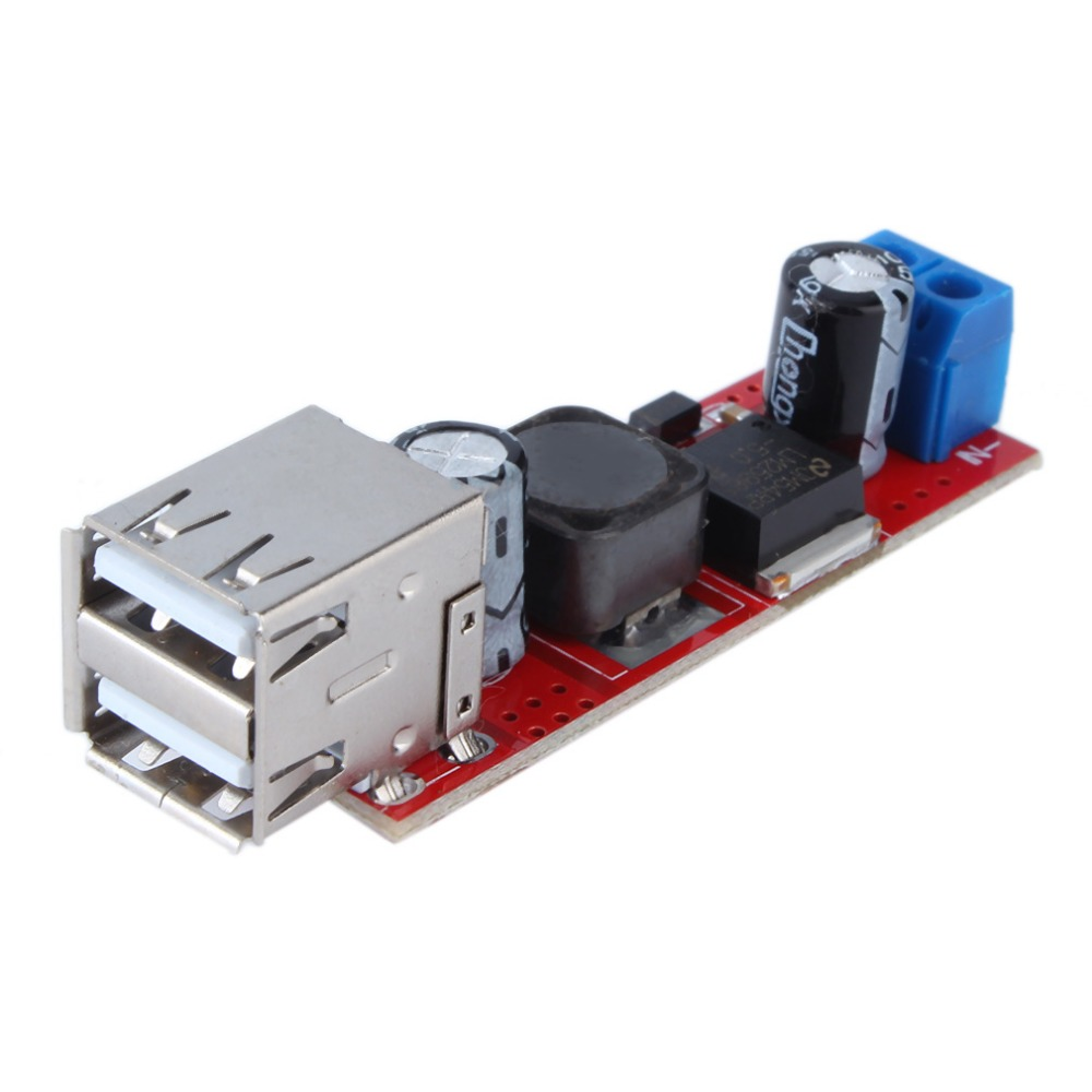 DC 6V-40V To 5V 3A Double USB Charge DC-DC Step-down Converter Module