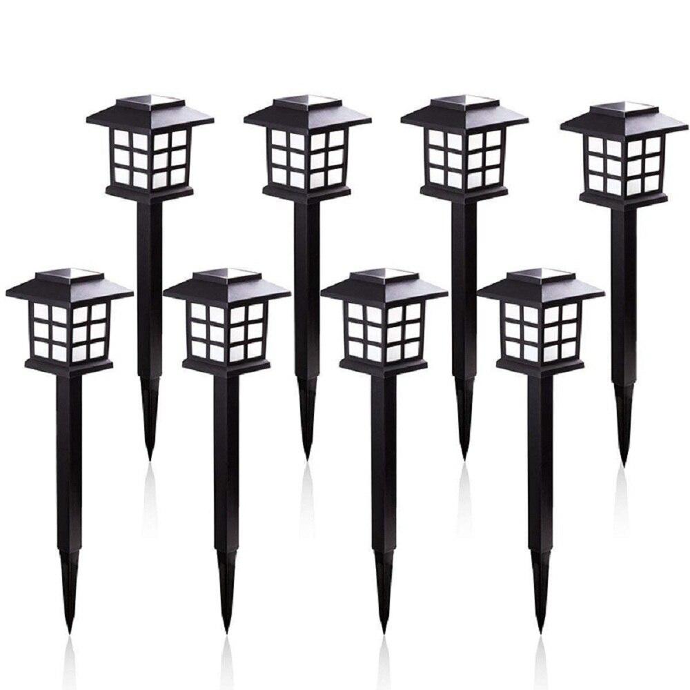 8Pcs/lot Solar Lantern Lawn Lamp Waterproof Solar Lamps