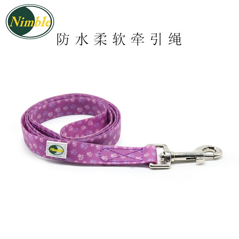 PVC Soft Hand Holding Rope Pet Dog Traction Belt Waterproof Wear And Dirt Pet Supplies