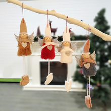 4pcs Cute Angel Doll Girl Pendant Christmas Tree Decoration for Home Xmas Party Kids Gift Bedroom