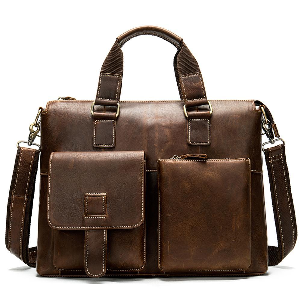 Top Sell Business Men Briefcase Bag Leather Laptop Bag Casual Man Bag Shoulder Bags