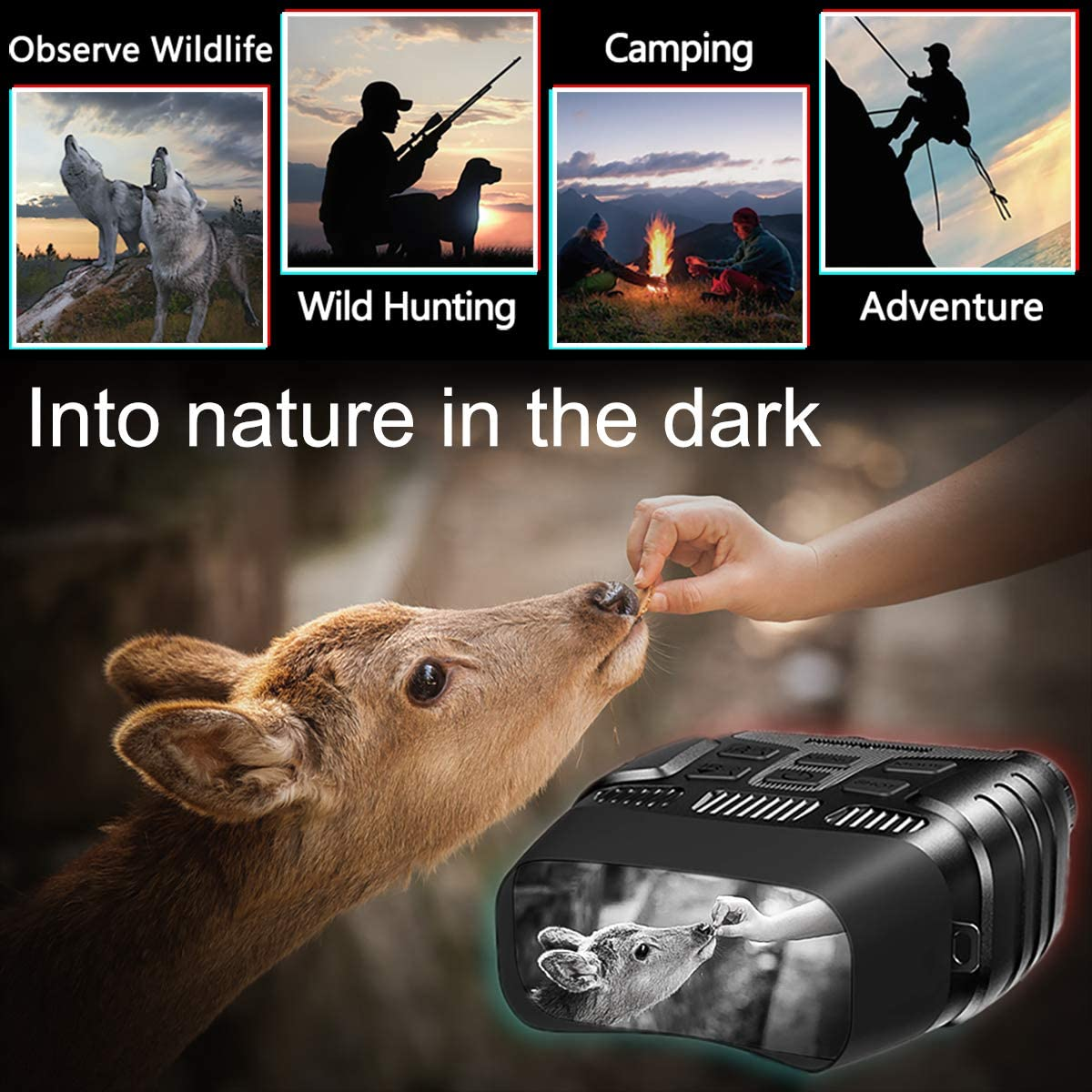 Night Vision Binoculars Infrared Digital 960P Video Night Vision Scopes 2 31 Inch Colorful Display Goggles Device for Hunting