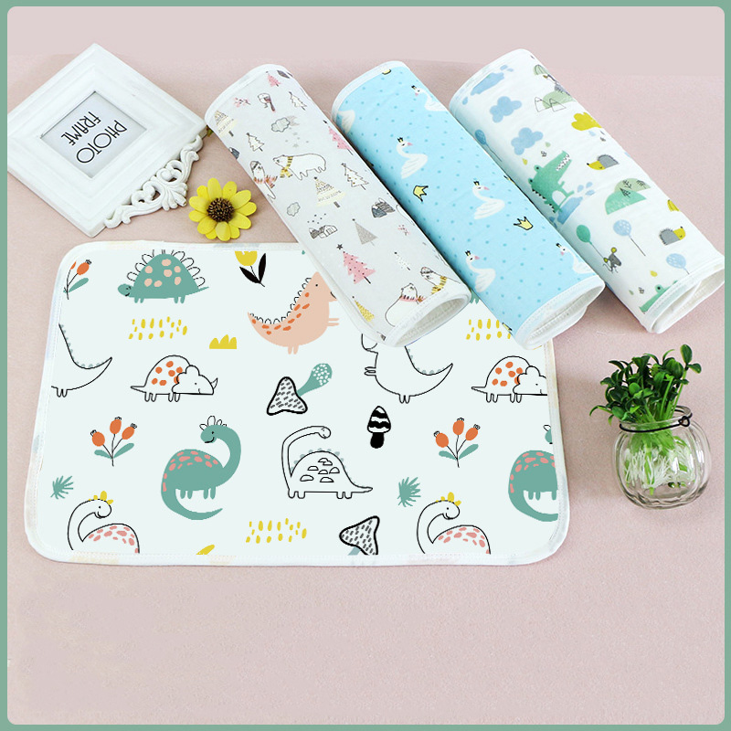 30*45CM Baby Diaper Pads Portable Foldable Washable Travel Nappy Diaper Changing Mat Waterproof Baby Floor Mat Change Play Mat