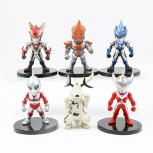 Japan Anime Ultraman figure toy 6pcs/set 10cm Ultraman Geed Zoffy Taro Eleking Jack Tiga Orb Geed Belial figure toy 38cm ultraman orb sacred sword and spear dart which emits light and sounds is a children s like ultraman toy