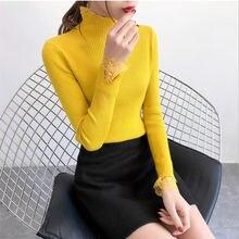 Весна Осень 2020 новый корейский пуловер с высоким воротником