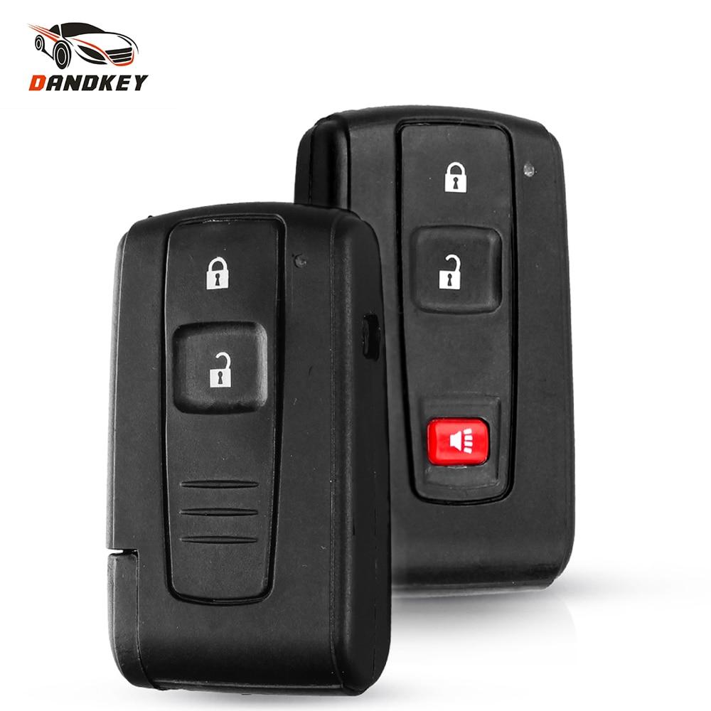 Dandkey Smart Key Shell Fob для Toyota Prius Corolla Chr Yaris Rav4 Auris Сменный Чехол с дистанционным управлением для автомобиля вставьте TOY43 Blade