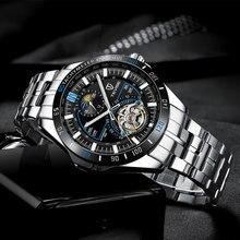 Tevise Luxury Tourbillion Mechanical Watches Stainless Steel