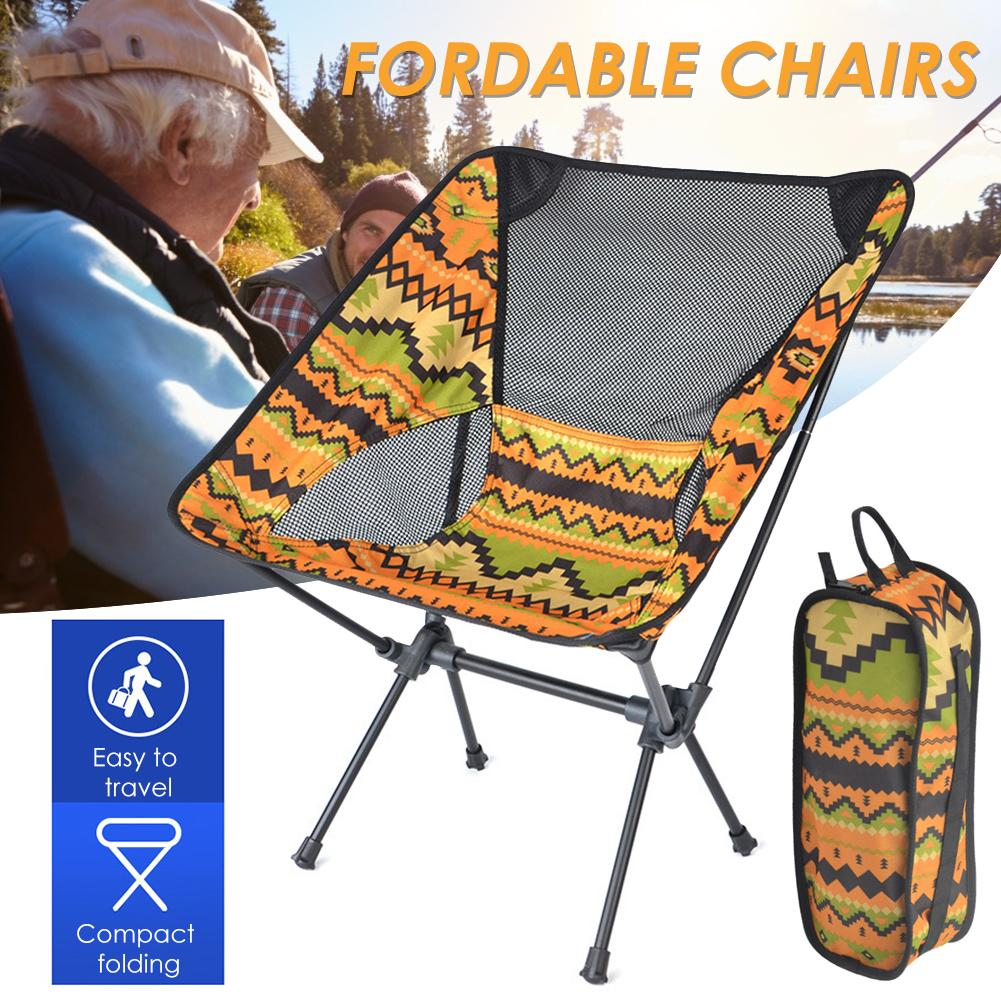 NEW Portable Folding Chair Outdoor Furniture Ultralight Camping Beach Fishing Chairs Travel Foldable Picnic Muebles