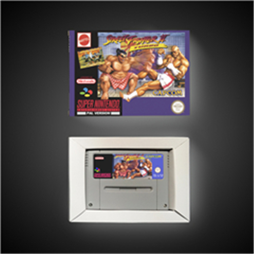 Street Game Fighter II Turbo - EUR Version Action Game Card with Retail Box image