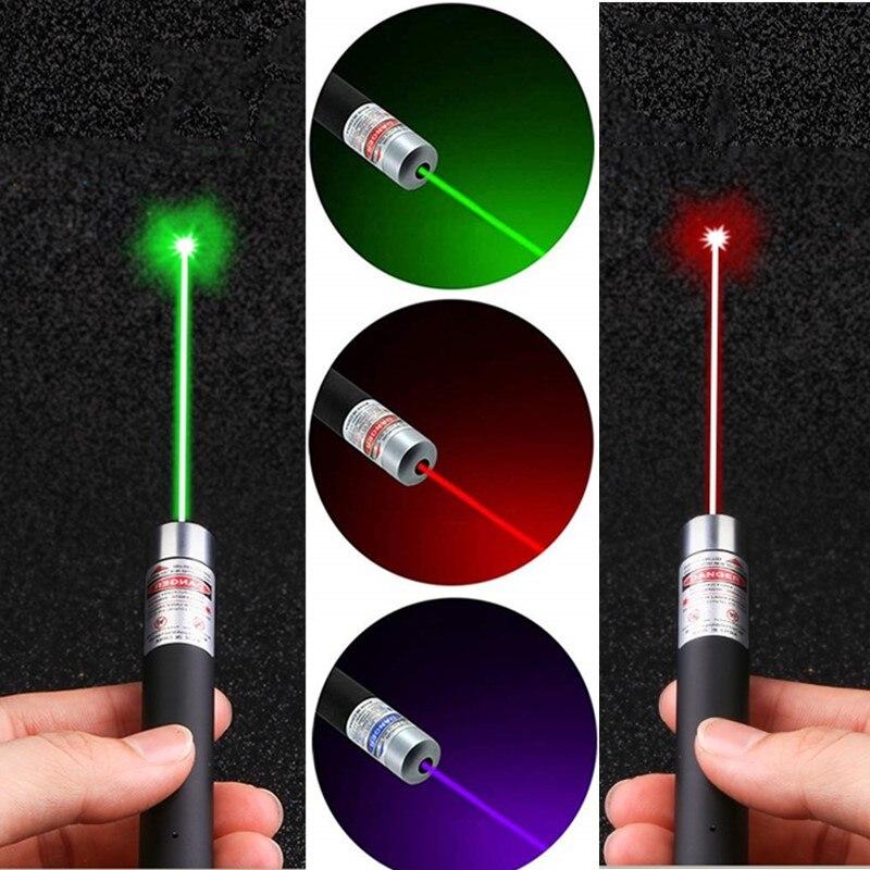 Laser Sight Pointer Green Blue Red Laser Light Pen 5MW High Power Laserpointer Flashlight Interactive Pen Training Toy Cat Dog