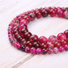 Rose Dragon Agate Natural Stone Beads For Jewelry Making Diy Bracelet Necklace 4/6/8/10/12 mm Wholesale Strand