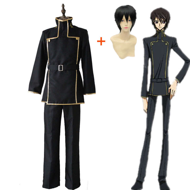 Anime Code Geass Lelouch Lamperouge School Uniform Full Cosplay Costume Dress Up