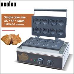 XEOLEO Fish Waffle machine Taiyaki machine Fish shape cake oven 8 pcs Taiyaki waffle maker Electric Non stick Cooking Pan 1550W