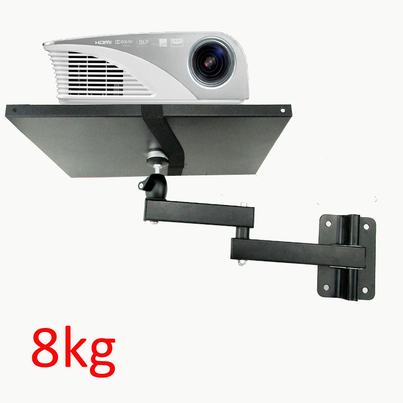 LCD-122PR-2 strong universal projector wall mount bracket full motion 360 rotate tilt  8kg with plate Flexible arm foldable