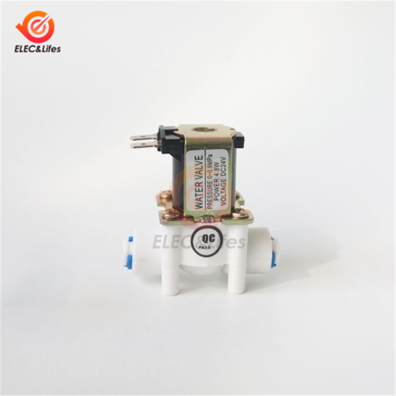 NC Electric Solenoid Valve Magnetic DC 12V 24V Water Air Inlet Flow Switch 1/2