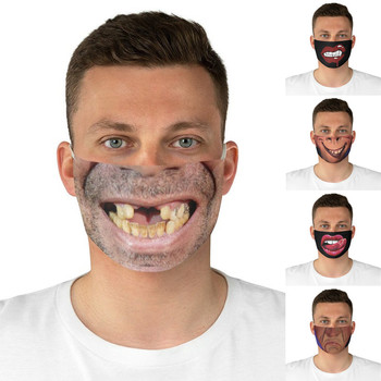 #35 Novelty Masque Unisex Sunscreen Face Mask Fashion Breathable Funny Expression Print Cycling Mask Mascarillas Reutilizables