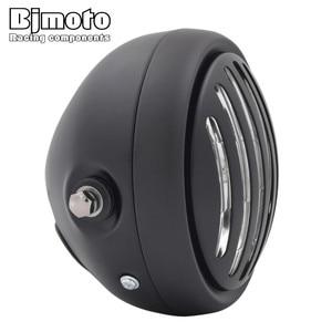 "Image 5 - Headl אור להארלי 6.5 ""אופנוע פנס הקרנת מנורת עבור הונדה ימאהה קוואסאקי ופר Bobber סיור קפה רייסר"