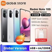 Global Version Xiaomi Redmi Note 10S 6GB 64GB/128GB Smartphone Helio G95 6.43