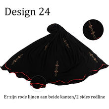 D24-New custome elástico camisa tecido impressão cachecol com pedras 2 lados linha vermelha para muçulmanos 2020 holanda