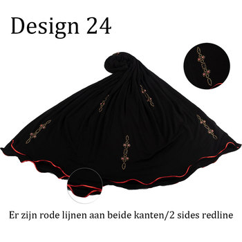 D24-New Custome stretchy Jersey fabric Printing Scarf with stones  2 sides red line for muslim women 2020 netherlands - discount item  43% OFF Muslim Fashion