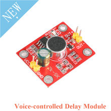 Voice-controlled Delay Module Sound Trigger Direct Drive LED Motor DIY Table Lamp Electric Fan Electronic Building Blocks(China)