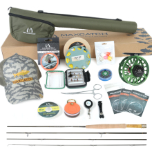 Maximumcatch New 1/2/3 WT Fly Fishing Combo Carbon Fiber Fly Fishing Rod and Fly Reel Outfit for Fly Fishing недорого