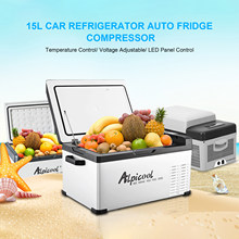12/24v a c220v 15l geladeira freezer refrigerador refrigerador geladeira compressor controle/3 níveis de tensão led-display digital