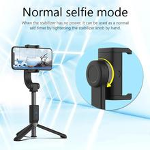 قابل للتعديل مقبض الهاتف PTZ استقرار المحمولة الرياضة العالمي الموقت الذاتي الهاتف المحمول مكافحة هزة Selfie عصا ل iOS أندرويد