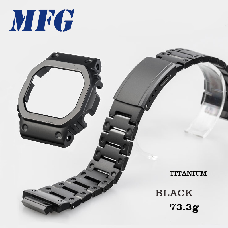 Titanium Alloy 5600 Series GW5000 5610 Watchband Bezel Strap Case Frame Bracelet Accessory With Repair Tool Black