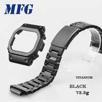 Titanium alloy 5600 series GW5000 5610 Watchband bezel Strap Case Frame Bracelet Accessory with Repair Tool Black