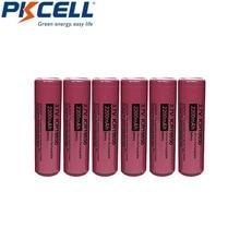 6個pkcell bateriaの18650バッテリー3.7v 2200mah icr 18650充電式電池リチウムイオンリチウム電池