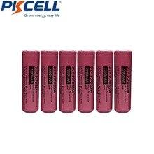 6 sztuk PKCELL Bateria 18650 Bateria 3.7V 2200mAh ICR 18650 akumulatory litowo jonowa Bateria litowa