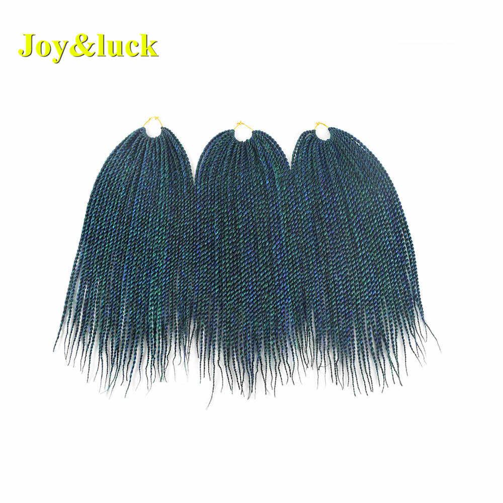 Vreugde & Geluk 14 Inch 30 Strengen Kids Korte Senegalese Twist Vlechten Haar Synthetisch Ombre Kleur Gehaakte Vlechten Hair Extensions
