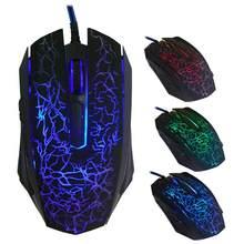 Ratos 4000dpi 6 botões jogo pro gamer para computador portátil computador desktop profissional colorido backlight óptico wired gaming mouse